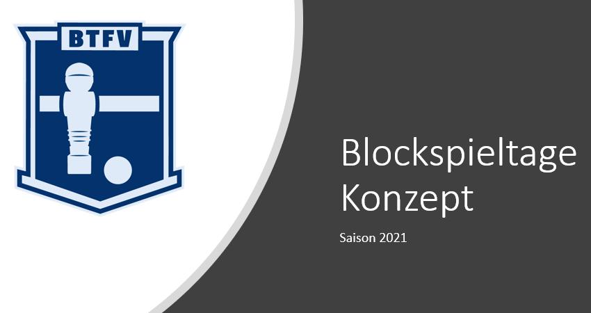 Blockspieltage Konzept für 2021